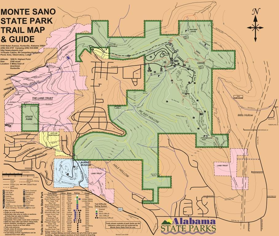 The Monte Sano Trail Guide - Huntsville Outdoors